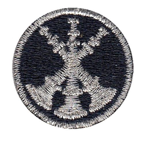 "Asst. Chief, 3 Bugles, Collar Insignia, 1"" Circle"