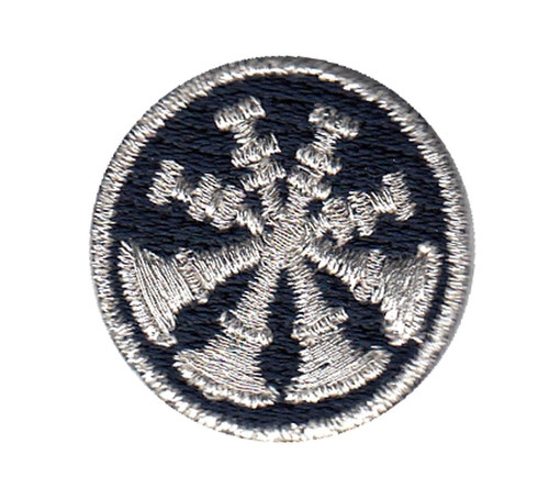 "Deputy Chief, 4 Bugles, Collar Insignia, 1"" Circle"