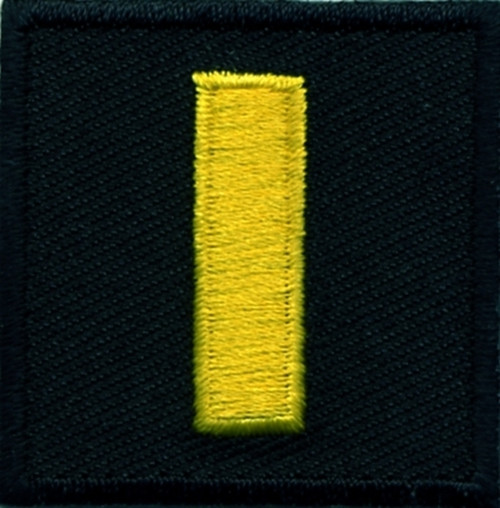 """LT, Embroidered Rank, Pair, Med.Gold/Black, 1-1/2x1-1/2"""""""
