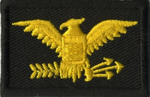 """Colonel, Embroidered Rank, Pair, Med.Gold/Black, 1-3/4x1-1/8"""""""