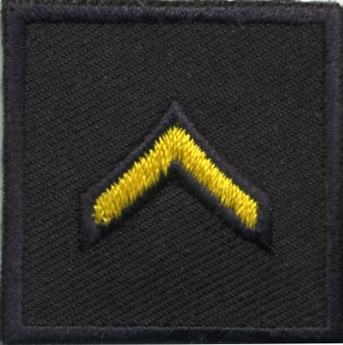 """PFC, Embroidered Rank, Pair, MedGold/Midnight, 1-1/2x1-1/2"""""""