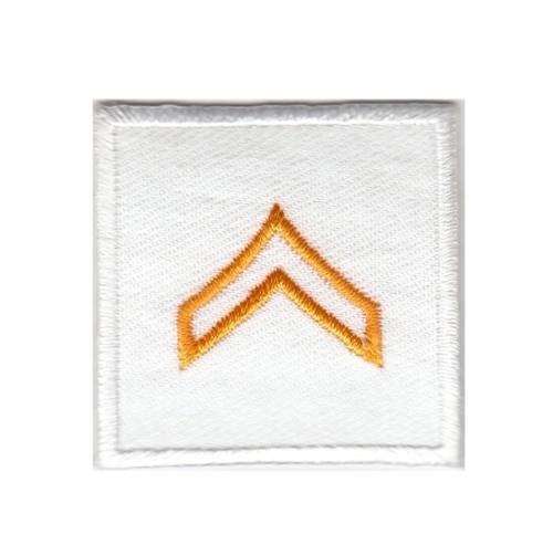 """CPL, Embroidered Rank, Pair, Dark Gold/White, 1-1/2x1-1/2"""""""