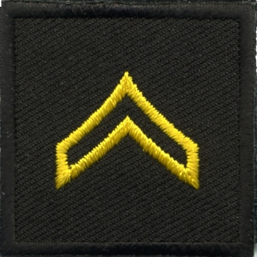 """CPL, Embroidered Rank, Pair, Med. Gold/Black, 1-1/2x1-1/2"""""""