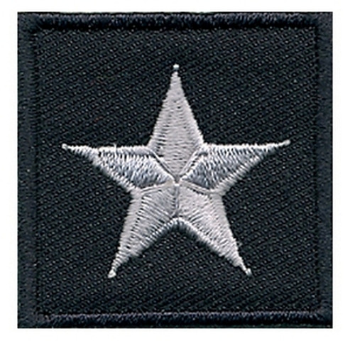 """General (1 Star), Embroidered Rank, Pair, Silver/Midnight, 1-1/2x1-1/2"""""""