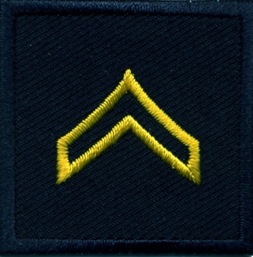 """CPL, Embroidered Rank, Pair, MedGold/Midnight, 1-1/2x1-1/2"""""""