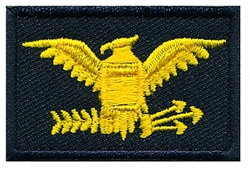 """Colonel, Embroidered Rank, Pair, MedGold/Midnight, 1-1/2x1-1/2"""""""