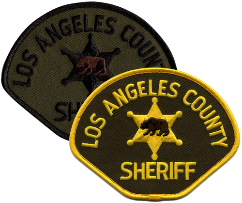 """SHERIFF LOS ANGELES COUNTY Shoulder Patch, 4-1/2x3-1/2"""""""