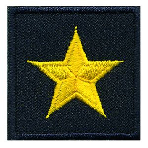 """General (1 Star), Embroidered Rank, Pair, MedGold/Midnight, 1-1/2x1-1/2"""""""