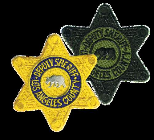"DEPUTY SHERIFF LOS ANGELES COUNTY Star Badge Patch, 2-1/4x2-1/2"""