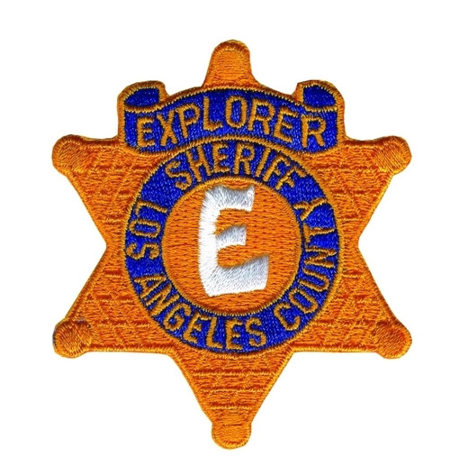 """EXPLORER SHERIFF LOS ANGELES COUNTY Star Badge Patch, Full Color, 2-1/4x2-1/2"""""""