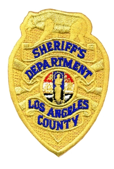 SHERIFF'S DEPARTMENT (Custody) LOS ANGELES COUNTY Badge Patch, Full Color, 2-1/4x3-1/4