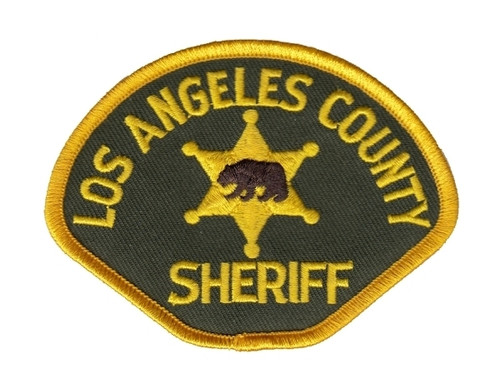 """SHERIFF LOS ANGELES COUNTY Cap Patch, Full Color, Full Color, 3-1/2x2-5/8"""""""