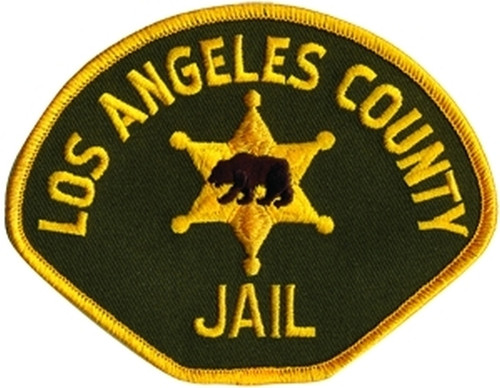 """JAIL LOS ANGELES COUNTY Shoulder Patch, Full Color, Full Color, 4-1/2x3-1/2"""""""
