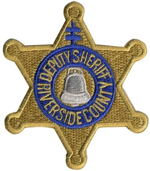 "CA DEPUTY SHERIFF RIVERSIDE COUNTY Badge Patch, 2-5/8x3"""