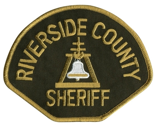 "CA RIVERSIDE COUNTY SHERIFF Shoulder Patch, 4-5/8x3-5/8"""