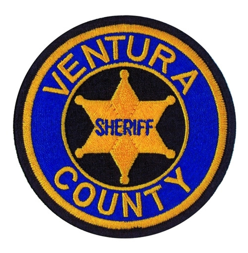 """VENTURA COUNTY SHERIFF Shoulder Patch, Full Color, 3-7/8"""" Circle"""