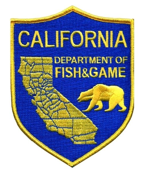 "CALIFORNIA FISH & GAME Shoulder Patch, 4x5"""