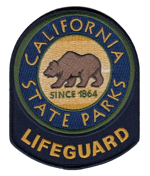 """LIFEGUARD CALIFORNIA STATE PARKS Shoulder Patch, 4x5"""""""