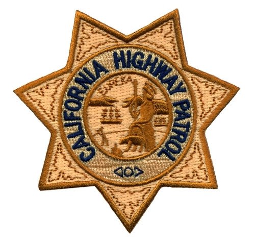 "CALIFORNIA HIGHWAY PATROL Star Patch, 3-3/16x3-3/16"""