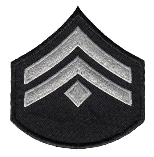 "LAPD Chevrons, D1, (2+Diamond), Pairs, LAPD SilverGrey/Black, 3-1/8""W"