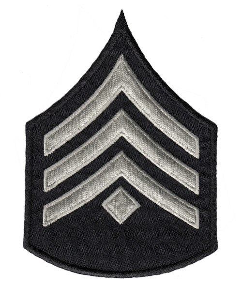 "LAPD Chevrons, D2, (3+Diamond), Pairs, LAPD SilverGrey/Black, 3-1/8""W"