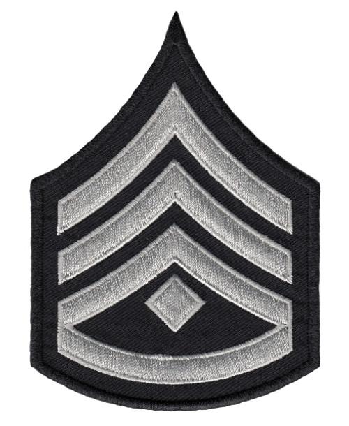 "LAPD Chevrons, D3, (3+Rocker+Diamond), Pairs, LAPD SilverGrey/Black, 3-1/8""W"