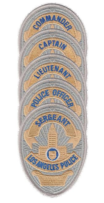 """LAPD Badge Patch, 2-11/16x3-5/8"""""""