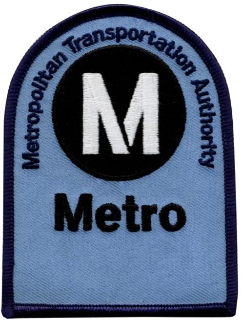 "NY Metropolitan Transportation Authority Shoulder Patch, 3x4"""