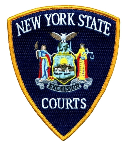 """NEW YORK STATE COURTS Shoulder Patch, Full Color, 3-3/4x4-1/2"""""""