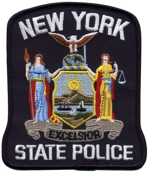 """NEW YORK STATE POLICE Shoulder Patch, Full Color, 4x4-5/8"""""""