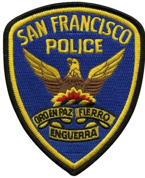 """SAN FRANCISCO POLICE Shoulder Patch, Full Color, 4x5"""""""