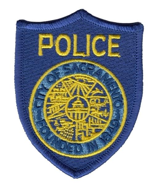 "SACRAMENTO POLICE Cap Patch, Full Color, 2-3/8x3-1/8"""
