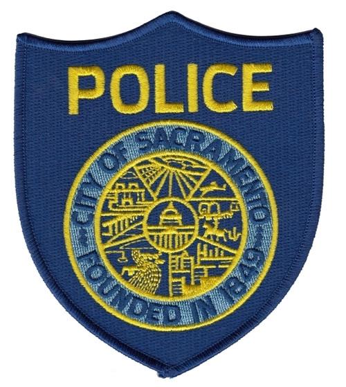 "SACRAMENTO POLICE Shoulder Patch, 4x4-3/4"""