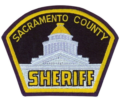 "SACRAMENTO COUNTY SHERIFF Shoulder Patch, Full Color, 4-7/8x3-3/4"""