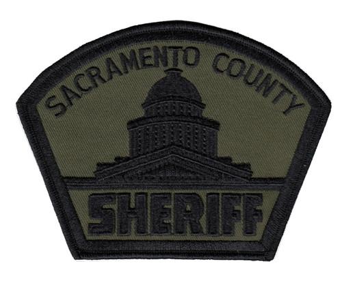"SACRAMENTO COUNTY SHERIFF Shoulder Patch, O.D./Black, 4-7/8x3-3/4"""