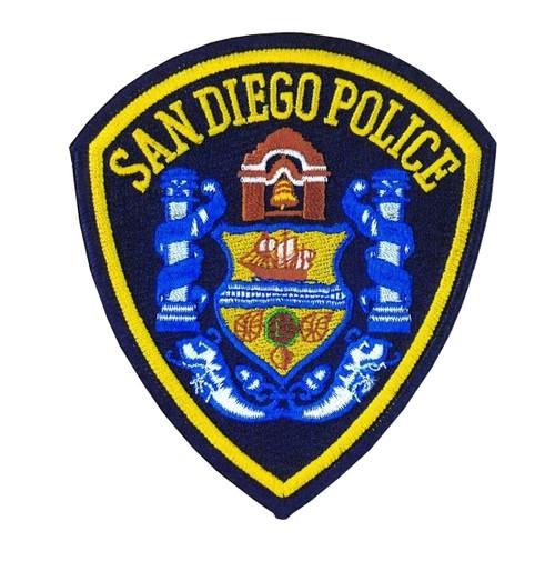 "SAN DIEGO POLICE Shoulder Patch, Full Color, 4x4-1/2"""