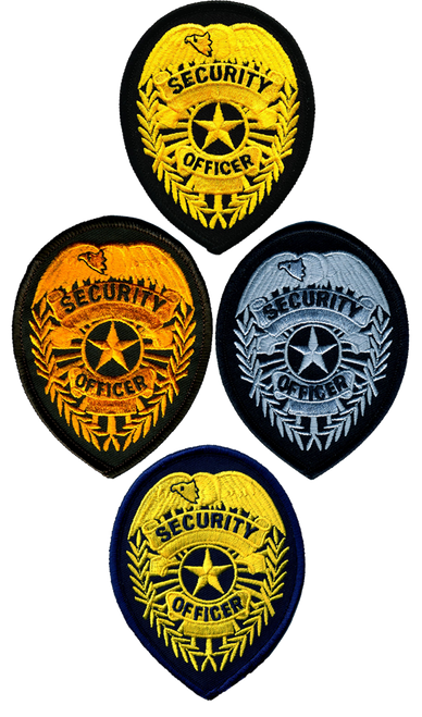 """SECURITY OFFICER Badge Patch, 2-3/4x3-3/4"""""""