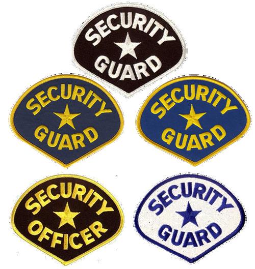 """SECURITY GUARD Shoulder Patch, 4-3/4x3-3/4"""""""