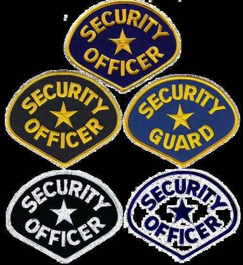 "SECURITY OFFICER Shoulder Patch, 4-3/4x3-3/4"""