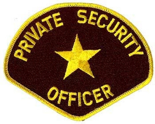 """PRIVATE SECURITY OFFICER Shoulder Patch, 4-3/4x3-3/4"""""""