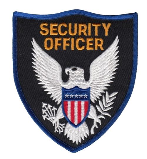 "SECURITY OFFICER Shoulder Patch, 3-3/4x4-3/8"""