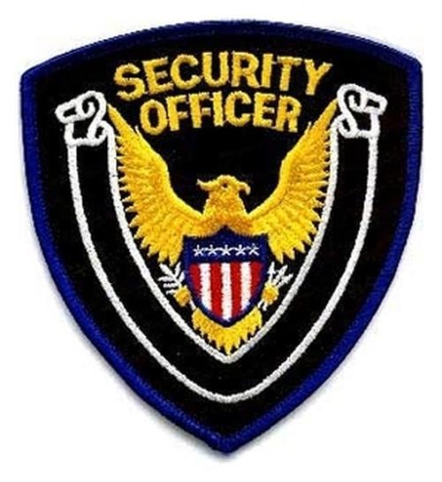 "SECURITY OFFICER Shoulder Patch, 4x4"""