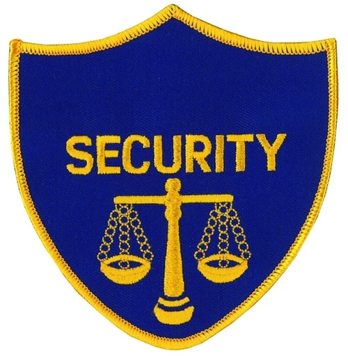 """SECURITY w/Scales of Justice Shoulder Patch, 3-1/4x4"""""""