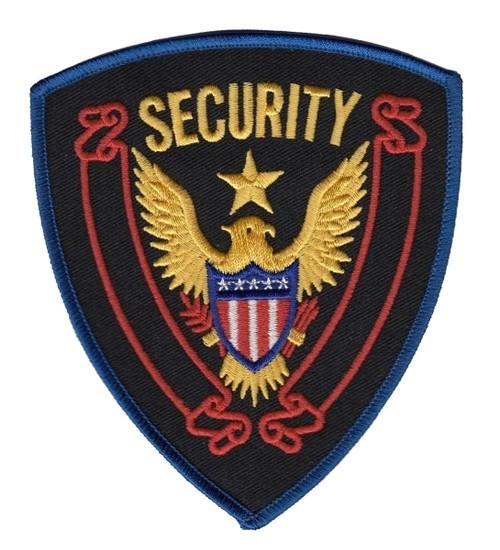 SECURITY Shoulder Patch, Royal Border, 4 x 4-5/8