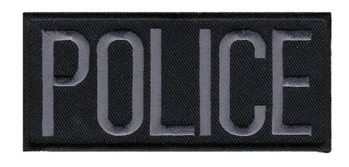 """POLICE Chest Patch, Grey/Black, Heat Seal, 4x2"""""""
