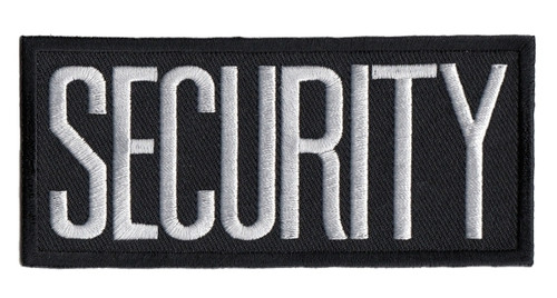"""SECURITY Chest Patch, White/Black, Heat Seal, 4x2"""""""