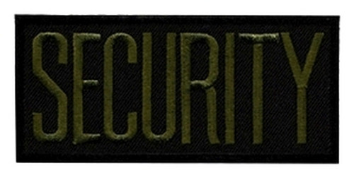 """SECURITY Chest Patch, O.D./Black, Heat Seal, 4x2"""""""