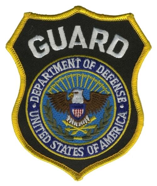 "GUARD - DEPT. OF DEFENSE Shoulder Patch, 3-5/8X4-3/8"""