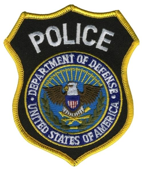 """POLICE - DEPT. OF DEFENSE Shoulder Patch, 3-5/8X4-3/8"""""""