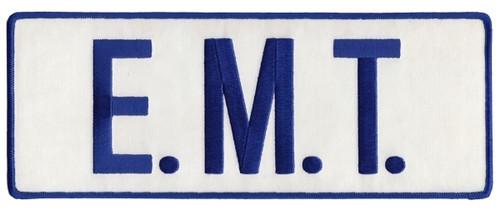 """E.M.T. Back Patch, Royal Blue/White, 11x4"""""""